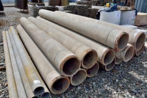бетонные кольца, трубы